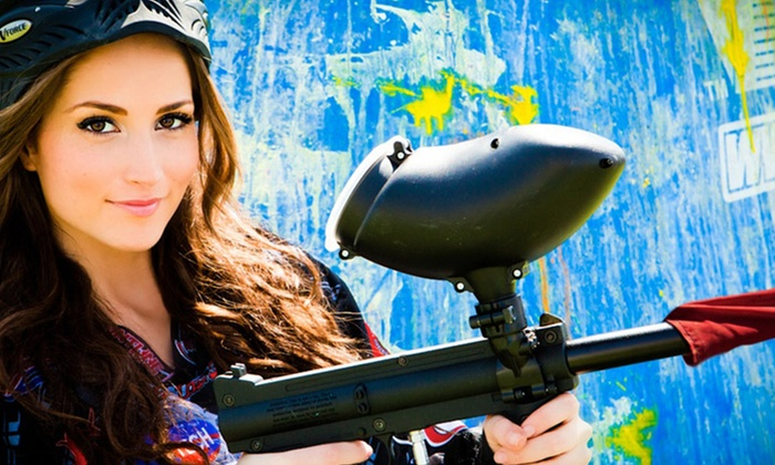 Paintball International - Multiple Locations: All-Day Paintball Package with Equipment Rental for 4, 6, or 12 at Paintball International (Up to 84% Off)