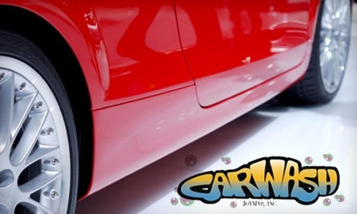 Joymar Car Wash - Multiple Locations: $5 for a Super Wash at Joymar Car Wash ($10 Value)