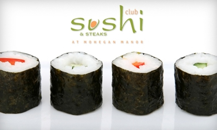 Club Sushi at Mohegan Manor - Baldwinsville: $12 for $25 Worth of Sushi & More at Club Sushi at Mohegan Manor