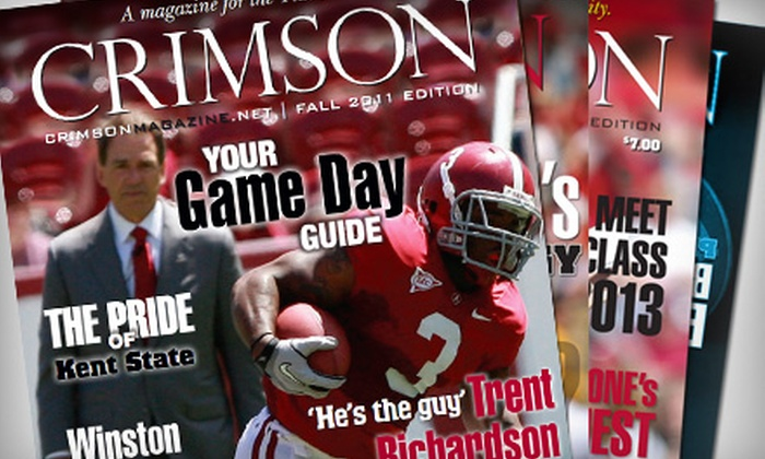 """Crimson Magazine"": $10 for a One-Year Subscription to ""Crimson Magazine"" ($20 Value)"