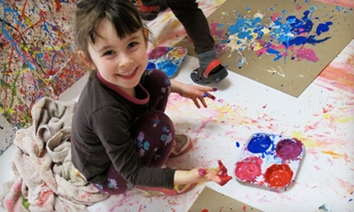 4 Cats Art Studios - Multiple Locations: $20 for Two Children's Art Workshops at 4Cats Art Studio (Up to $44.80 Value). Choose Between Two Locations.