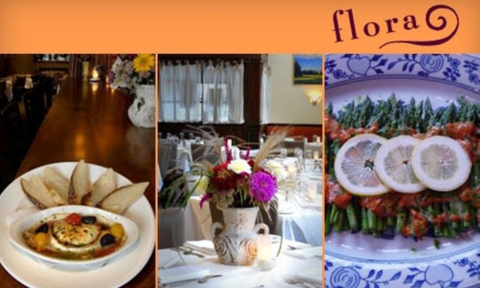 flora - East Arlington: $25 for $50 Toward a Contemporary American Dinner at flora (or $15 for $30 Toward Brunch). Choose Between Two Options.