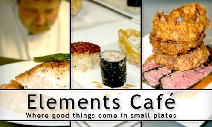 Elements Café - Haddon Heights: $20 for $40 Worth of American-Style Tapas at Elements Café