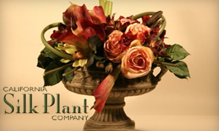 California Silk Plant Company - Laguna Hills: $25 for $50 Worth of Silk Plants, Holiday Decorations, Home Accessories, and Custom Orders at California Silk Plant Company