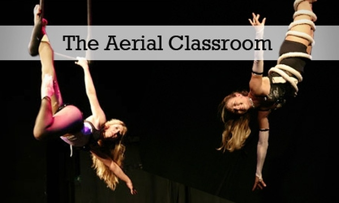 The Aerial Classroom - Multiple Locations: $20 for Two Circus-Training Classes at The Aerial Classroom (Up to $70 Value)