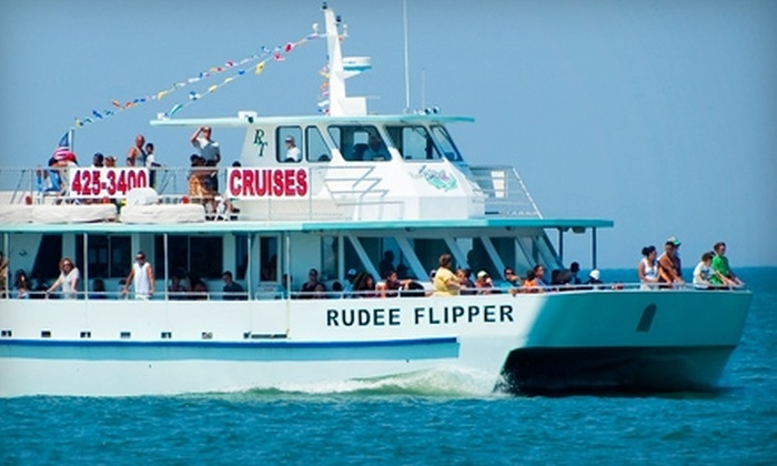 Rudee Tours - Dams Neck Naval Air Station: Dolphin-Watching Tours on the Rudee Flipper or Rudee Rocket from Rudee Tours. Four Options Available.