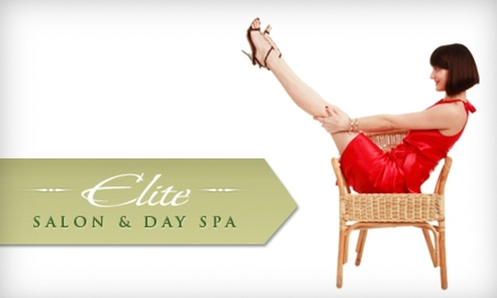 Elite Salon & Day Spa - Fairfax: $25 for Spa Pedicure or Women's Shampoo, Cut, and Blowout at Elite Salon & Day Spa