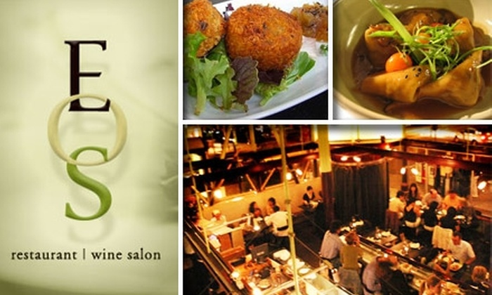EOS Restaurant & Wine - Ashbury Heights: $20 for $40 Worth of Asian-Fusion Cuisine and Drinks at Eos Restaurant