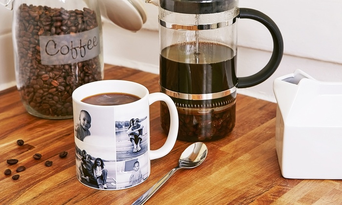 Collage.com: Custom 11-Ounce White, Color, or Magic Custom Mugs from Collage.com (Up to 75% Off)