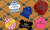 Monogram Online: One or Two Personalized Dog Tags from Monogram Online (Up to 62% Off)