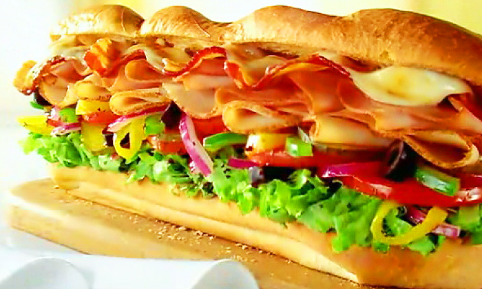 How much is a 6 inch sub