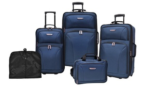 Traveler's Choice Versatile Rolling Luggage Set (5-Piece)