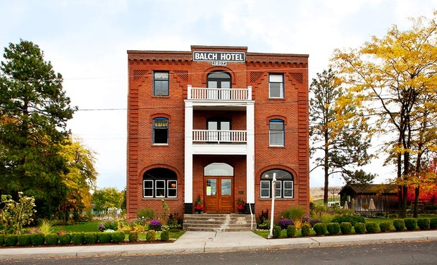TripAlertz wants you to check out 1-Night Stay for Two in a Traditional Room at Balch Hotel in Dufur, OR. Combine Up to 3 Nights. Oregon Boutique Hotel with Views of Mt. Hood - Oregon Boutique Hotel