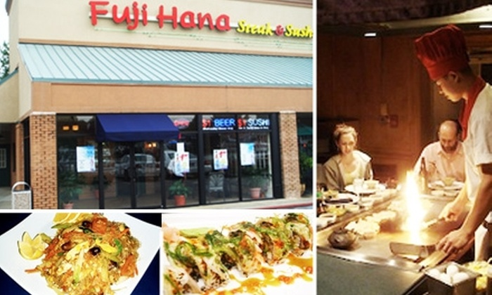 Fuji Hana - Northeast Cobb: $10 for $25 Worth of Thai, Tempura, and Sushi at Fuji Hana. Buy Here for East Cobb Location. See Below for Shallowford Location.