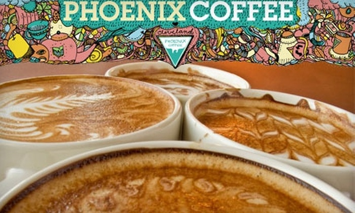 Phoenix Coffee - Multiple Locations: $4 for Three Twelve-Ounce Drinks from Phoenix Coffee (Up to $12 Value)