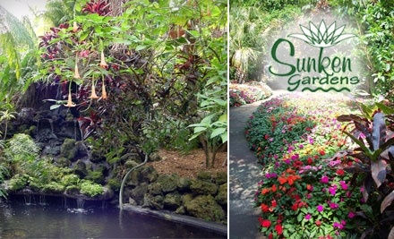Half off at sunken gardens sunken gardens us groupon for Gardening 4 less groupon
