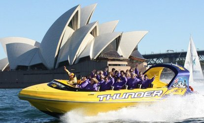 Jet Boat Ride for 1 ($39), 2 ($78), 4 ($156) or 6 People ($234) with Thunder Jet, Sydney Harbour (Up to $510 Value)