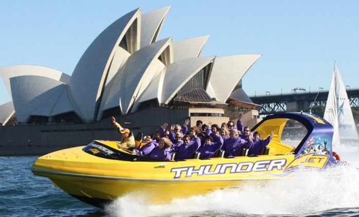 Jet Boat Ride for One ($49), Two ($98), Four ($196) or Six ($294) with Thunder Jet, Sydney Harbour (Up to $474 Value)