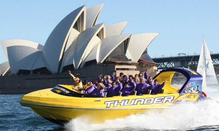 Thunder Jet, Darling Harbour - Thunder Jet, Circular Quay: Jet Boat Ride for 1 ($39), 2 ($78), 4 ($156) or 6 People ($234) with Thunder Jet, Sydney Harbour (Up to $474 Value)