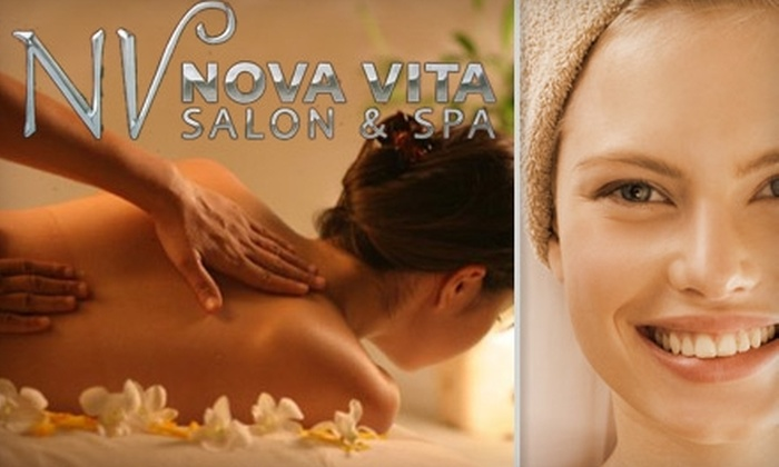 Nova Vita Salon & Spa - Tustin: $59 for Facial and Swedish Massage from Nova Vita Salon & Spa ($118 Value)