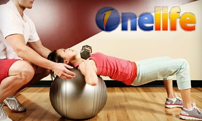 Onelife Fitness - Multiple Locations: $29 for a One-Month Membership and Three Personal-Training Sessions at Onelife Fitness (Up to $249 Value)