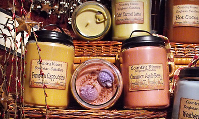 Country Kisses Candle Shoppe - Hancock: $15 for $30 Worth of Scented Candles, Rustic Home Décor, and Accessories at Country Kisses Candle Shoppe