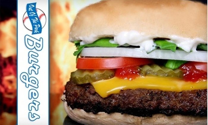 Out of the Park - Central Islip: $7 for $15 Worth of Burgers and Beverages at Out of the Park