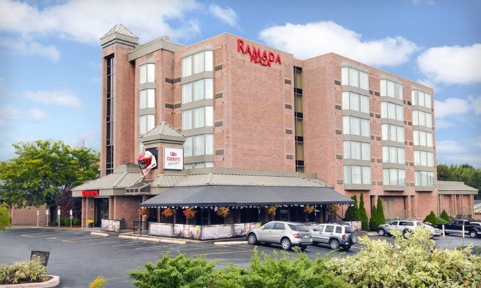 Ramada Plaza Niagara Falls - Niagara Falls, ON: One- or Two-Night Stay with Dining, Casino, and Gaming Credits at Ramada Plaza Niagara Falls in Niagara Falls, ON