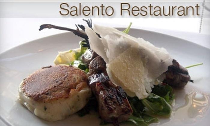 Salento Restaurant - Fitler Square: $15 for $30 of Authentic Italian Cuisine at Salento Restaurant