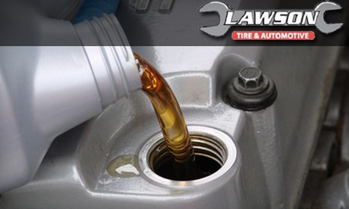 Lawson Tire & Automotive - Travis Southwest: $15 for an Oil and Filter Change Plus a 20-Point Inspection at Lawson Tire & Automotive ($30 Value)