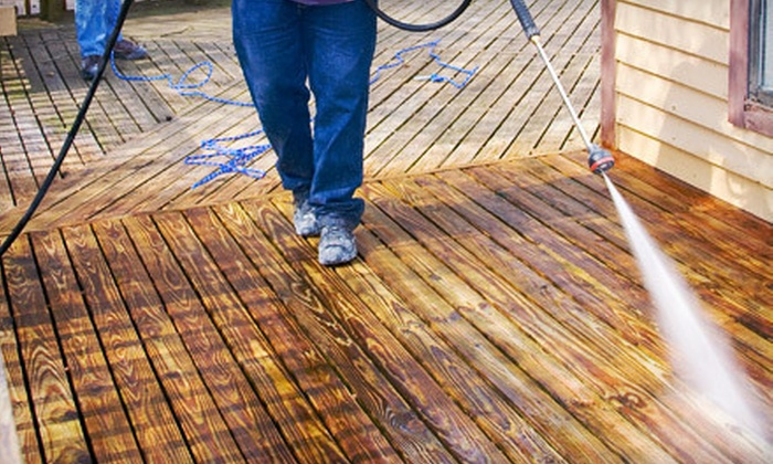 Power Pros Deck Staining - Raleigh / Durham: Deck Washing for Up to 250 or Up to 400 Square Feet from Power Pros Deck Staining (Up to 57% Off)