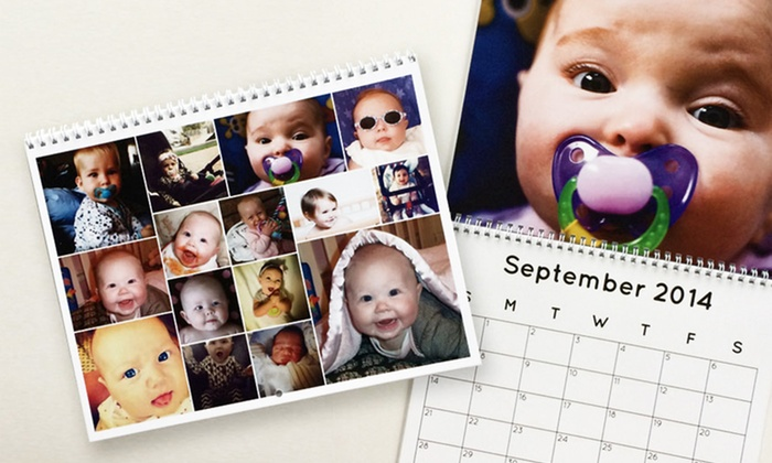 Collage.com: One or Three Personalized 12-Month Collage Calendars from Collage.com (Up to76% Off)