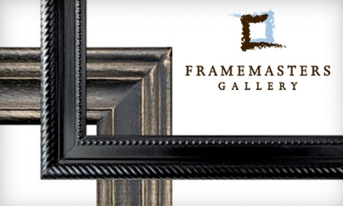 Framemasters Gallery and Art Supplies - Arcola East-North Side: $60 for $125 Toward Framing Services at Framemasters Gallery and Art Supplies