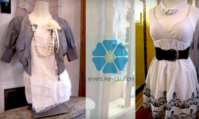 Eve's Revolution - Old Colorado City: $15 for $35 Worth of Designer and Consignment Apparel, Accessories, and More at Eve's Revolution