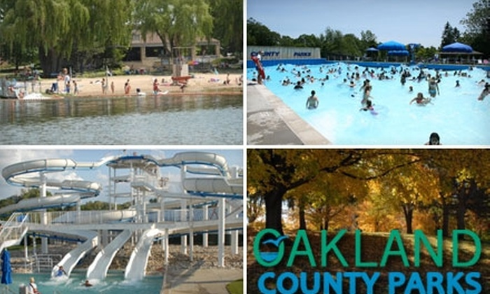Oakland County Parks - Multiple Locations: Admission to Oakland County Water Parks or Campgrounds in Madison Heights, Waterford, Leonard, or Holly. Four Options Available.