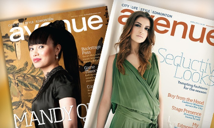 """Avenue"": $12 for One-Year Subscription to ""Avenue"" Magazine ($26.24 Value)"