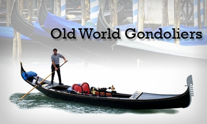 Old World Gondoliers - Downtown Indianapolis: $125 for a One-Hour Gondola Ride with Old World Gondoliers