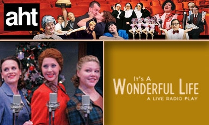 """American Heartland Theatre - Crown Center: $15 for """"It's a Wonderful Life – A Live Radio Play"""" Tickets at American Heartland Theatre. Buy Here for Sunday, 11/22, at 2 p.m. See Below for Additional Dates and Prices."""