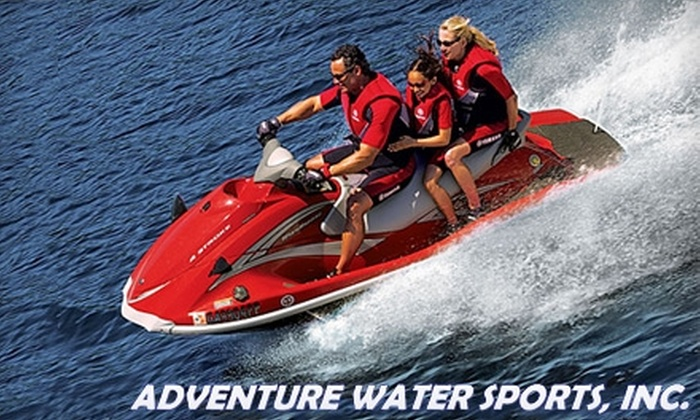 Adventure Water Sports - Fort Myers Beach: $79 for Guided Jet Ski Dolphin Tour for Three People at Adventure Water Sports (Up to $159 value)