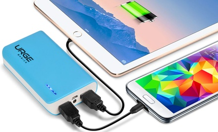 Urge Basics Dual-Port 6,000mAh Portable Smartphone Chargers (1-Pack or 2-Pack)