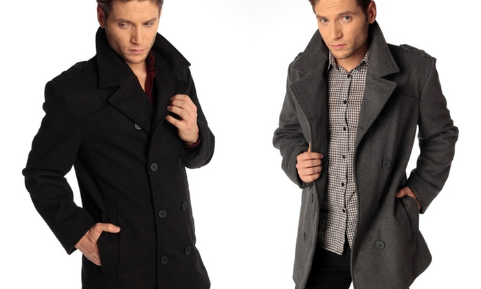 Alpine Swiss Jake Pea Coat: Men's Alpine Swiss Jake Pea Coat. Multiple Colors Available. Free Shipping and Returns.