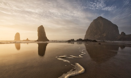 groupon daily deal - 2-Night Stay for Two with Breakfast at The Courtyard in Cannon Beach, OR