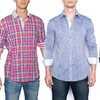 Isaac B Men's Long Sleeve Button Down Shirts
