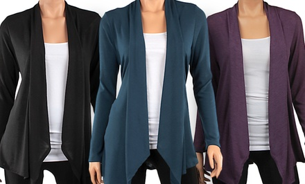 Draped Hacci Cardigan