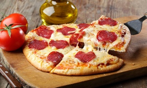 Crown pizza: Pizza, Pasta, and Sandwiches at Crown Pizza (45% Off). Two Options Available.