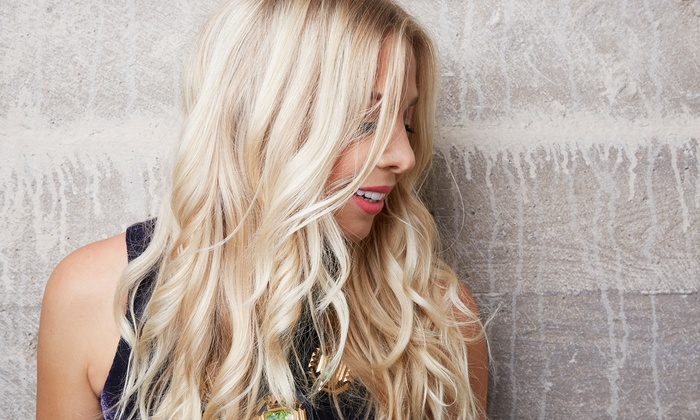 Glam Beauty Bar - Larchmont: Glam Blowout with Color or Highlights at Glam Beauty Bar (Up to 59% Off)