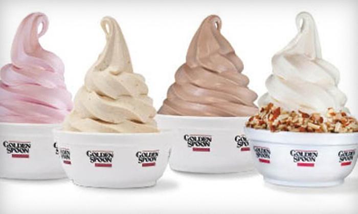 Golden Spoon Frozen Yogurt - Multiple Locations: $10 for Six 8 Oz. Yogurts at Golden Spoon Frozen Yogurt ($20.20 Value)