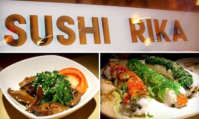 Sushi Rika - Downtown: $20 for $40 Worth of Japanese Fare at Sushi Rika