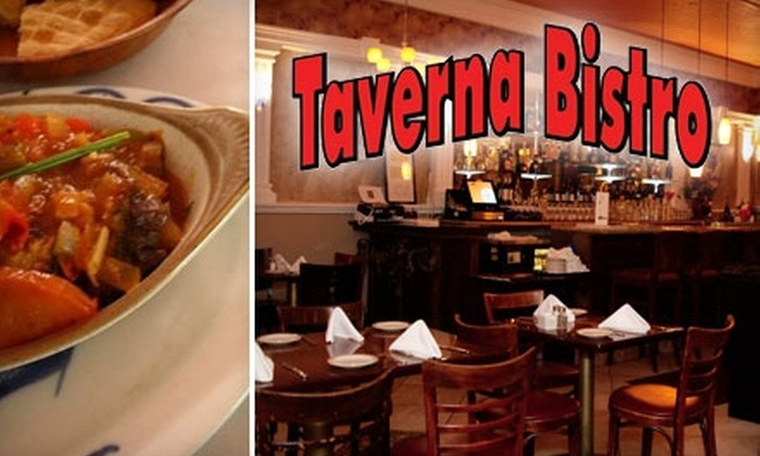 Taverna Bistro - Heritage District: $15 for $30 Worth of Mediterranean Cuisine at Taverna Bistro