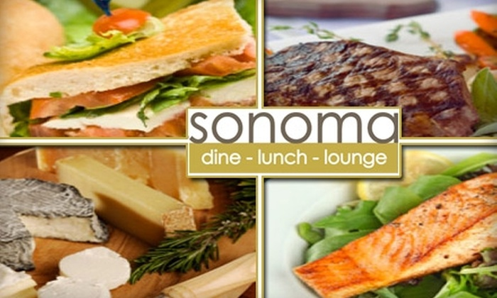 Sonoma Restaurant Group - First Ward: $25 for $50 Worth of Seasonally Inspired, Elegant American Cuisine at Sonoma
